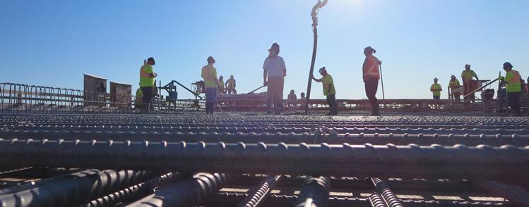 Key elements of Kenaston Overpass in Winnipeg reinforced with stainless steel rebar